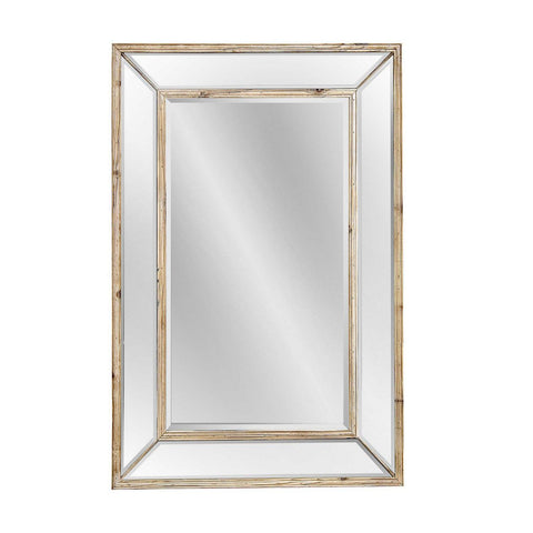 Bassett Transitions Pompano Wall Mirror in Scrubbed Pine