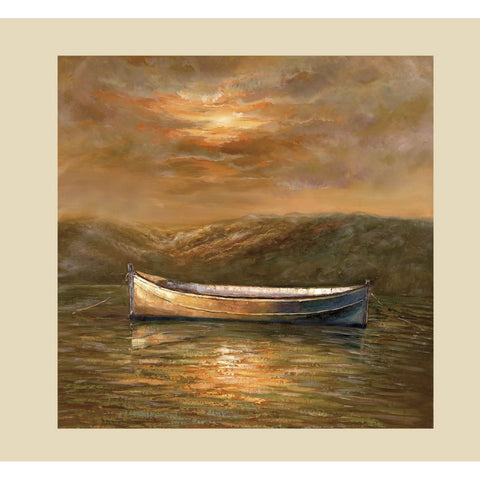 Bassett Transitions Sunset Canoe Canvas Art