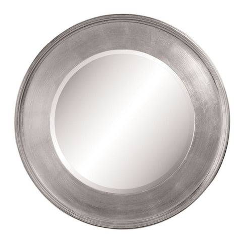 Bassett Transitions Ursula Round Wall Mirror in Silver Leaf