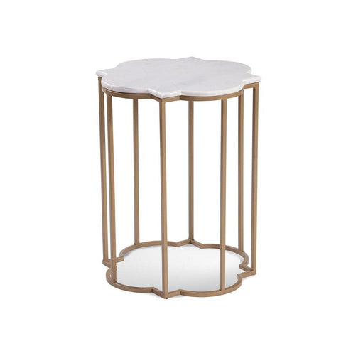 Bassett Quatrefoil Marble Accent Table