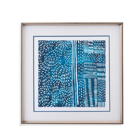 Bassett Sashiko Stitches II Framed Art