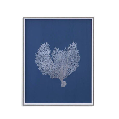Bassett Sea Fans in Silver III Framed Art