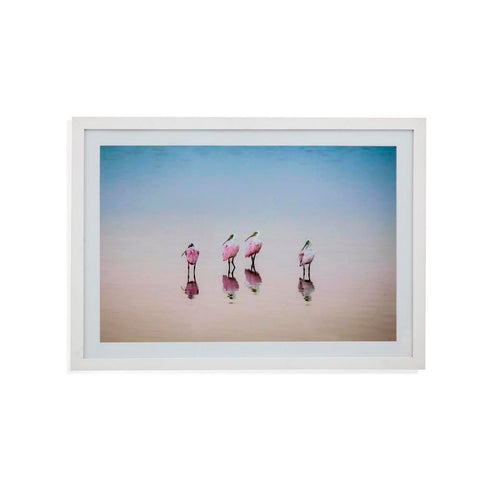 Bassett Spoonbills at Sunset Framed Art