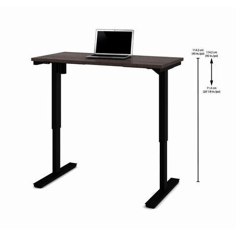 Bestar 24 Inch x 48 Inch Electric Height Adjustable Table in Bark Gray