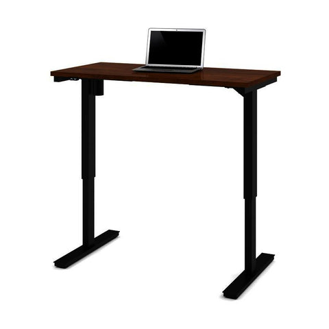 Bestar 24 Inch x 48 Inch Electric Height Adjustable Table in Tuscany Brown