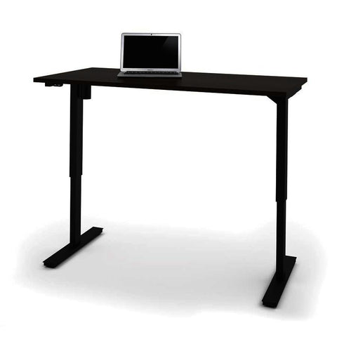 Bestar 30 Inch x 60 Inch Electric Height Adjustable Table in Dark Chocolate