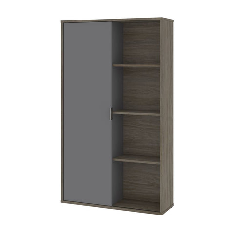 Bestar Aquarius 36W Storage Unit with 8 Cubbies in walnut grey & slate