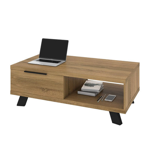 Bestar Auva 48W Coffee Table in maple brown