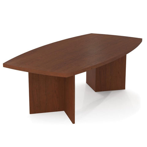 "Bestar Boat Shaped Conference Table With 1 3/4"" Melamine Top In Bordeaux"