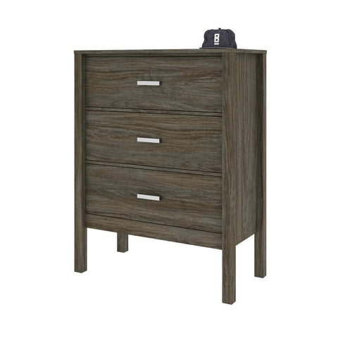Bestar Capella 39W Dresser in walnut grey