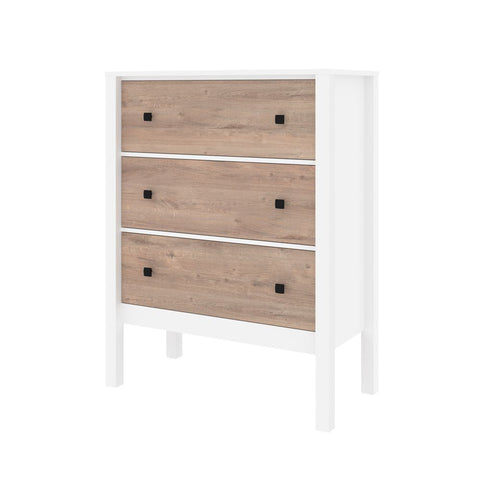 Bestar Capella 39W Dresser in white & rustic brown