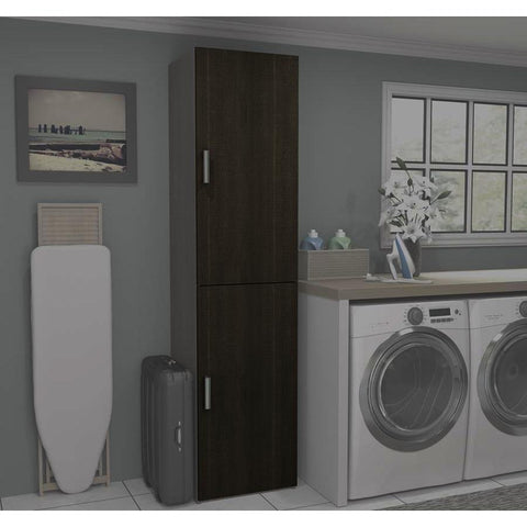 Bestar Cielo 2-Door Set for 19.5 Inch Storage Units in Bark Gray