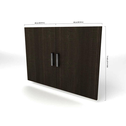 Bestar Cielo 2-Door Set for Base Storage Unit in Bark Gray