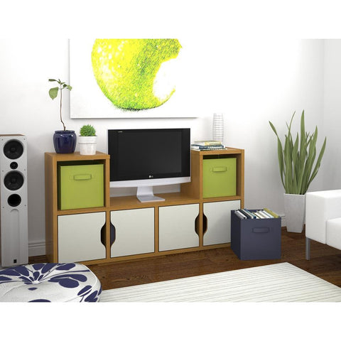 Bestar Generation TV Stand In Cappuccino Cherry
