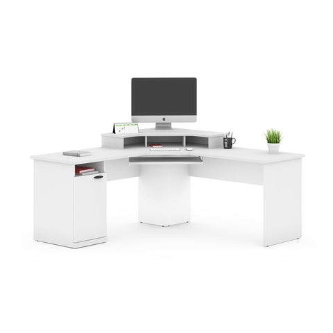 Bestar Hampton 71W Corner Desk in white