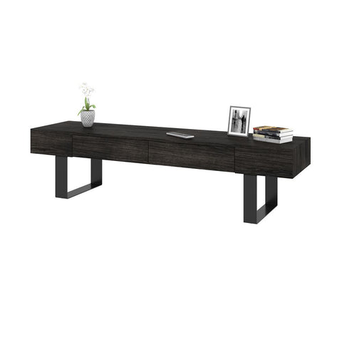 Bestar Lyra 63W TV Stand in black oak