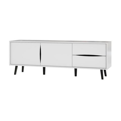 Bestar Maia 63W TV Stand in white