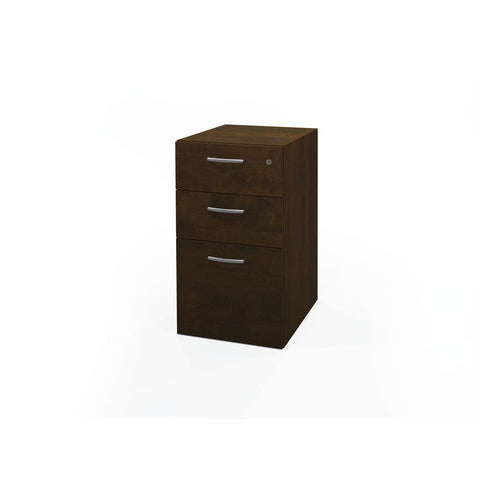 Bestar Pro-Biz Full Pedestal In Chocolate - Fully Assembled