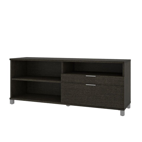 Bestar Pro-Linea 72W Credenza with 2 Drawers in deep grey