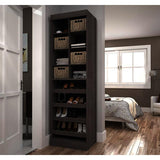 Bestar Pur 25 Inch Multi-Storage Cubby in Bark Gray