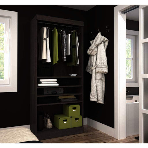Bestar Pur 36 Inch Storage Unit in Bark Gray