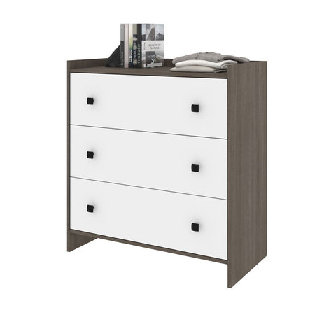 Bestar Sirah 36W Dresser in bark grey & white