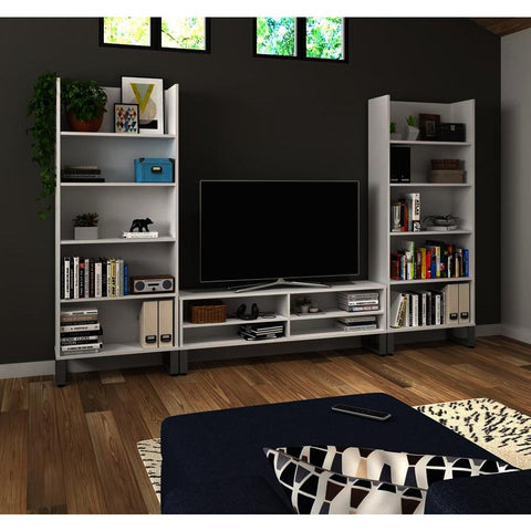 Bestar Solay 3-Piece Entertainment Unit Set in White