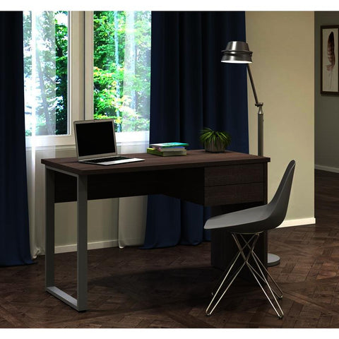 Bestar Solay Computer Desk in Bark Gray