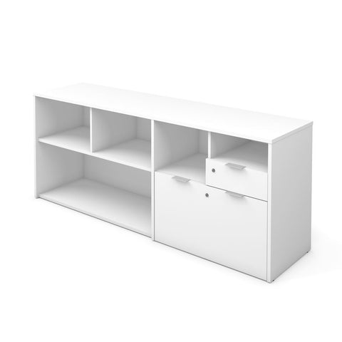 Bestar i3 Plus 72W Credenza with 2 Drawers in white