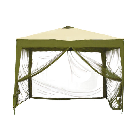 Bliss Hammocks Stow-ez 10' X 10' Pop-up Canopy with Mesquito Net and Carry Bag In Sage Green
