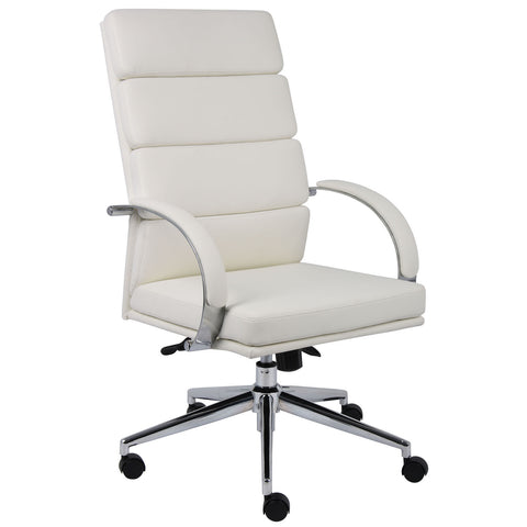 Boss Chairs Boss B9401-WT Caressoftplus Executive Chair