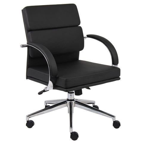 Boss Chairs Boss B9406-BK Caressoftplus Executive Chair
