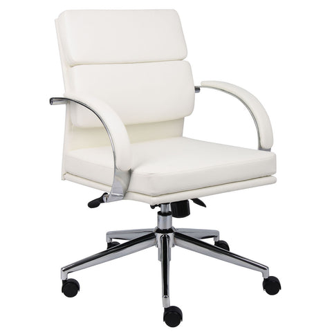 Boss Chairs Boss B9406-WT Caressoftplus Executive Chair