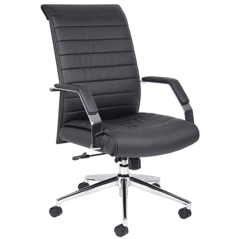 Boss Chairs Boss Executive High Back Ribbed Chair