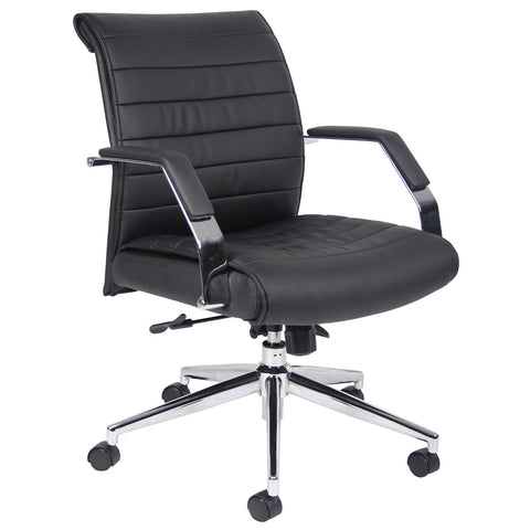 Boss Chairs Boss Executive Mid Back Ribbed Chair