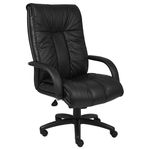 Boss Chairs Boss Italian Leather High Back Executive Chair w/ Knee Tilt
