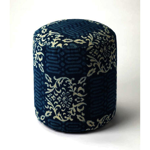 Butler Accent Seating Samode Blue Pouffe