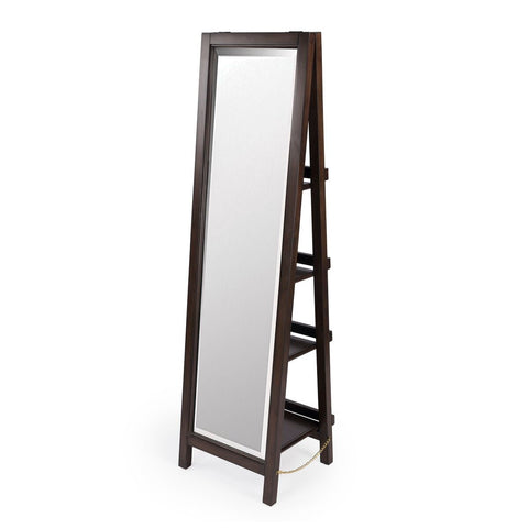 Butler Adela Dark Brown Mirror with Shelves