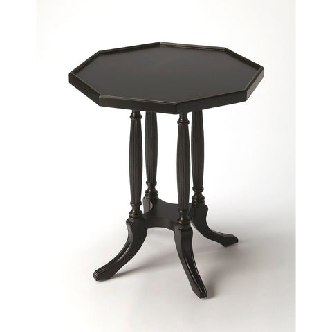 Butler Adolphus Black Licorice Octagonal Accent Table