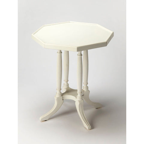 Butler Adolphus Cottage White Octagonal Accent Table