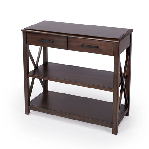 Butler Adrik Dark Brown Console Table with Storage