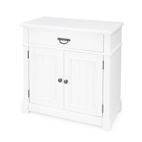 Butler Alek White Solid Wood Chest with Storage