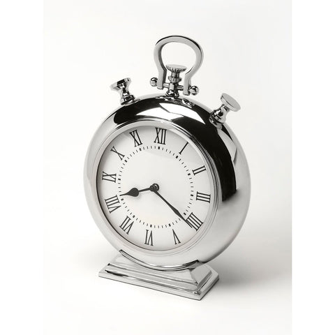Butler Alistair Nickel Finish Desk Clock