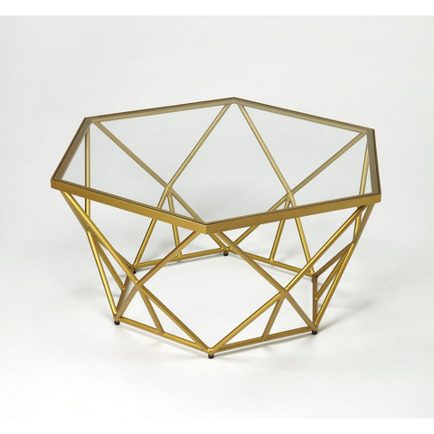 Butler Alondra Gold Powder Coated Cocktail Table
