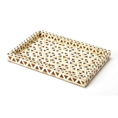 Butler Amal Wood & Bone Inlay Serving Tray