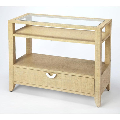 Butler Amelle Cream Raffia Console Table