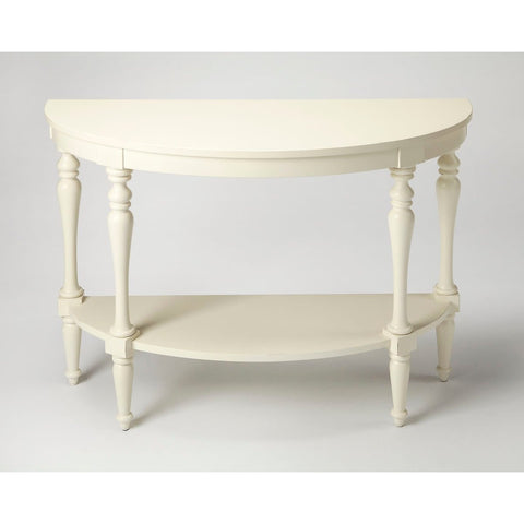 Butler Amherst White Demilune Console Table