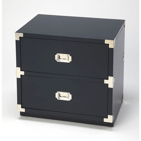 Butler Anew Blue 2 Drawer Campaign Chest