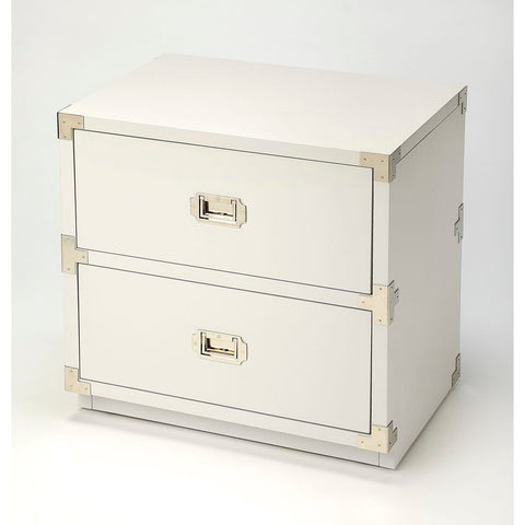 Butler Anew White 2 Drawer Campaign Chest