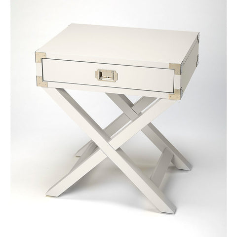 Butler Anew White Campaign Side Table
